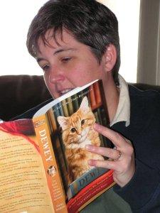 Ellen reading in 2008